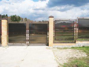 ДВ-75 Ворота из поликарбоната